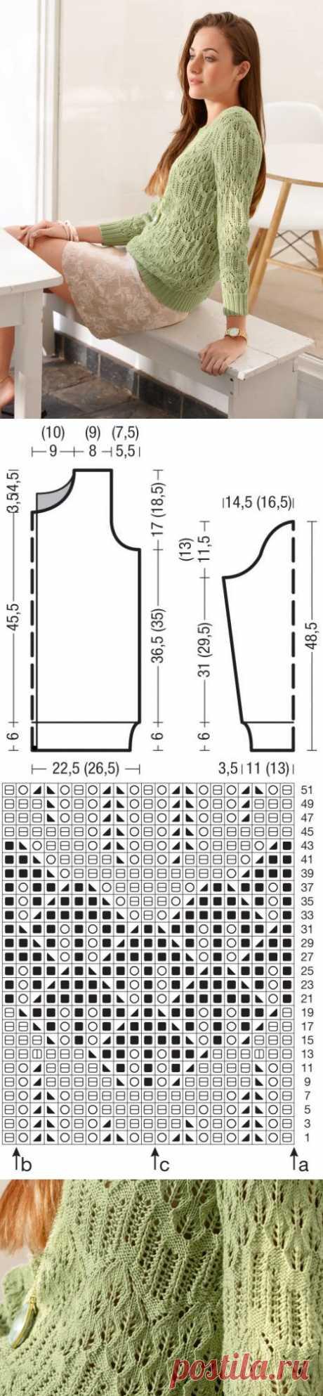 Пуловер со структурным узором / BurdaStyle: мастер-классы