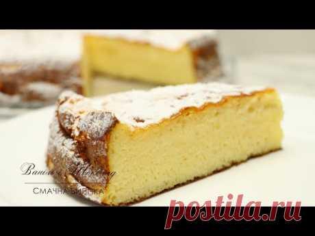Творожный пирог без теста - вкусный, простой,  рецепт.