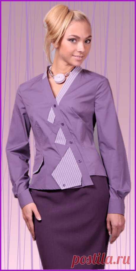 "Блузка ""рубашка и галстук"""