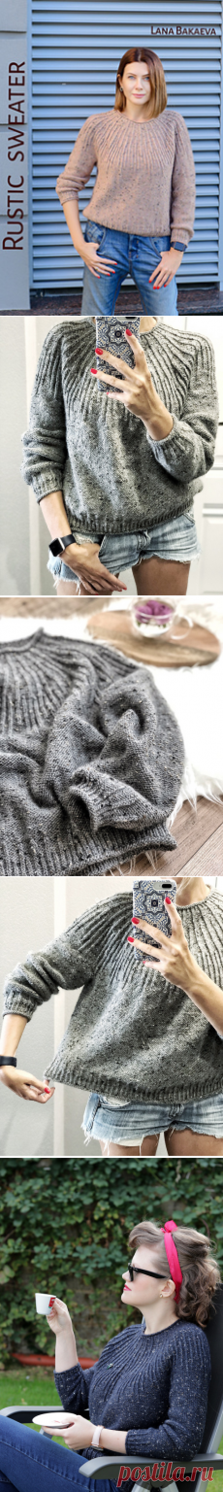 Ravelry: Rustic sweater pattern by Lana Bakaeva