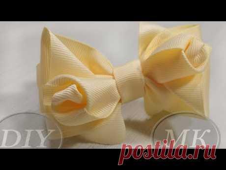 Бант с витыми розами 🎀 DIY 🎀 Pap 🎀 Tutorial 🎀 Laço de fita - YouTube