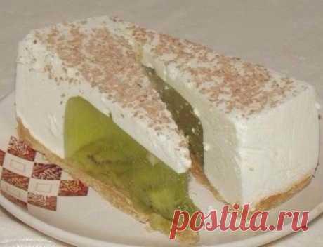Желейный тортик из киви и сметаны без выпечки | Четыре вкуса