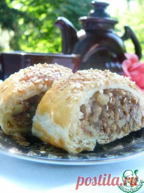 Ореховый штрудель с мучной крошкой - кулинарный рецепт