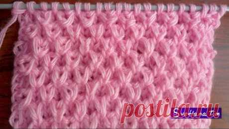 PATTERN PEARL or RICE in 3D. KNITTING by # 55 SPOKES