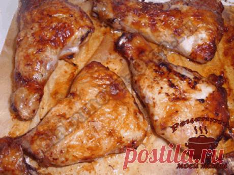 Фаршированные куриные окорочка. Рецепт. Фото