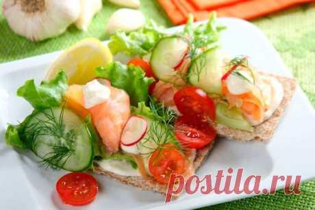 Бутерброды на праздничный стол с лососем - пошаговый рецепт с фото.