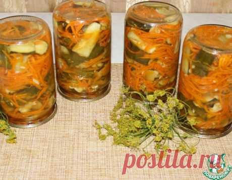 Салат с огурцами и морковью по-корейски – кулинарный рецепт