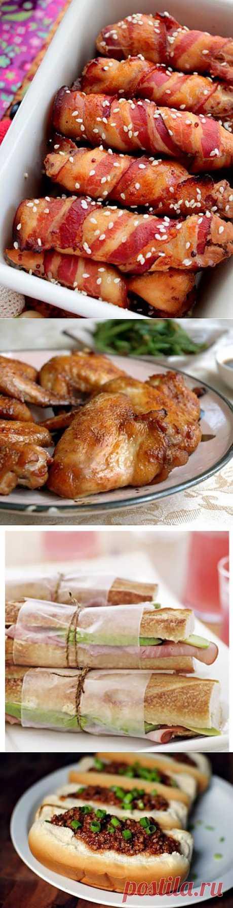 Куриное филе в беконе и еще 6 сытных закусок к пиву
