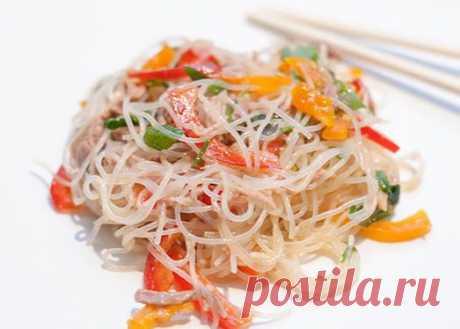 Восточная еда – полезно и оригинально! Фунчоза — вкусный салат | Вкусные рецепты