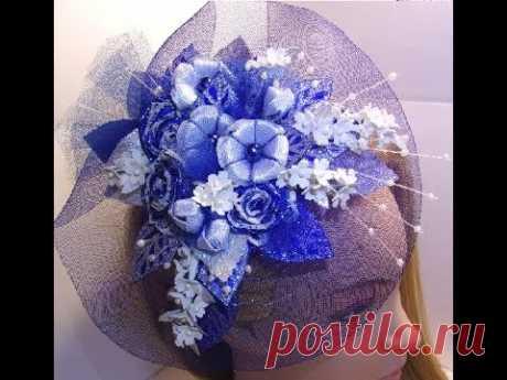 МК. Шляпка с цветами. Регилин.