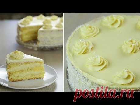 Нежный и Легкий Торт НЕЖНОСТЬ с кремом Пломбир на 8 МАРТА. БЮДЖЕТНЫЙ торт со Вкусом Мороженого