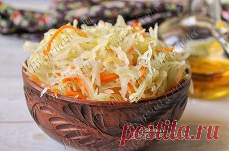 Маринованная капуста быстрого приготовления - Вкусная еда