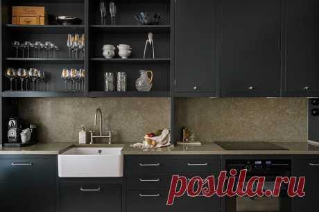 Шведская квартира с черной кухней и большими окнами в спальне (91 кв. м) - Дизайн интерьеров | Идеи вашего дома | Lodgers