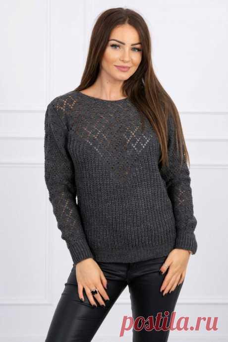 Вязаный свитер цвета мокрого асфальта - вещь на все времена.Подборка фото. | MuMof2 | Яндекс Дзен