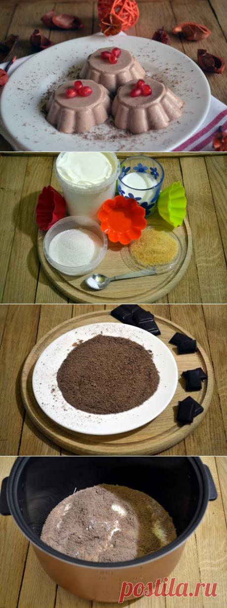 Десерт: Шоколадная панна котта Посмотрите как приготовить вкуснейший десерт в мультиварке.