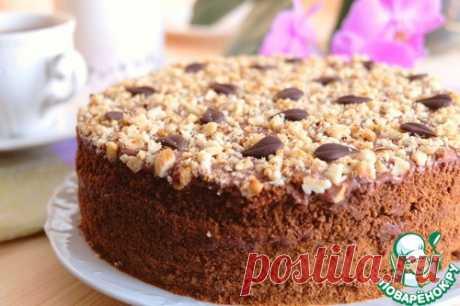 """Домашний торт """"Ореховый"""" - рецепт из домашней кулинарной тетради"""