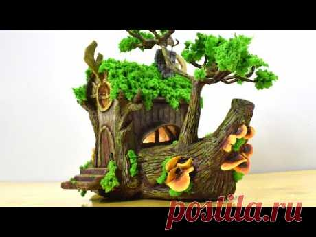 DIY Amazing Imaginary Miniature House with Cardboard Box, Plastic bottle and Paper Clay, Fairy House