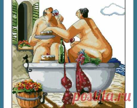 Tuscan Bath Ronald West Instant PDF Digital from 100patterns on Etsy