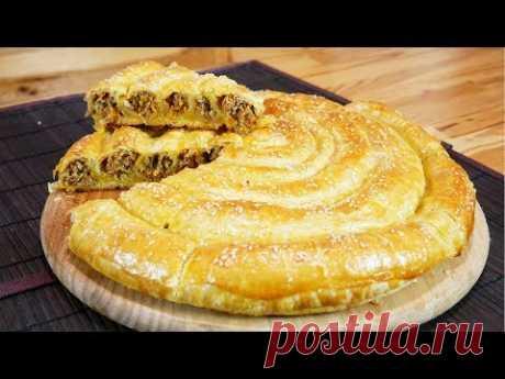 Пирог УЛИТКА с мясом