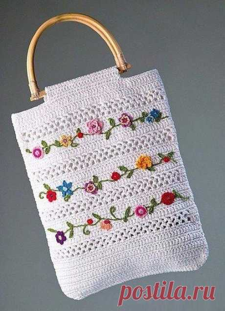 Knitting by a bag hook with schemes. Summer bags scheme hook | Laboratory of a household