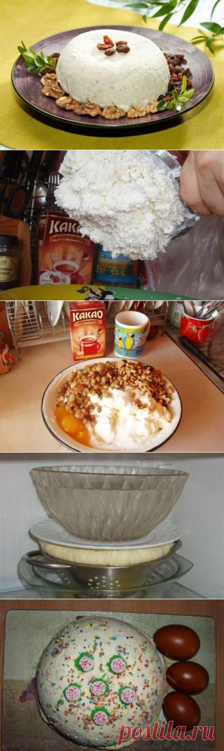 Как приготовить творожную пасху с орехами, рецепт без выпечки с изюмом