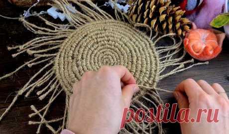 Забытая узелковая техника из детства снова набирает популярность! Плетем уютные вещи простым способом 👍👍👍 | Живые вещи | Яндекс Дзен