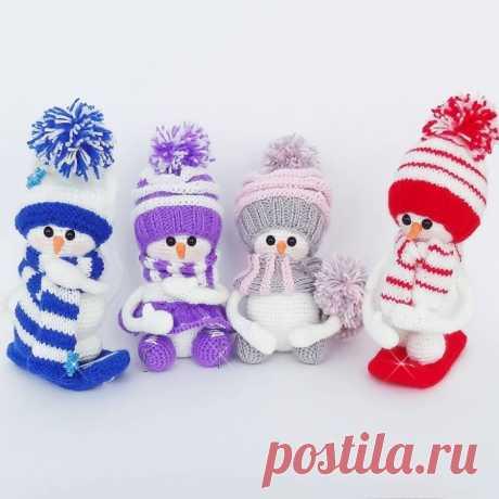 Los monigotes de nieve entretenidos amigurumi