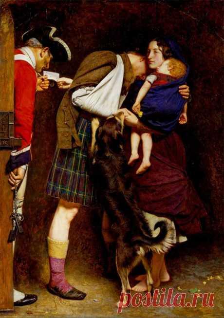 "✨ Прерафаэлистская история любви - ""The Order of Release"", J.E. Millais"