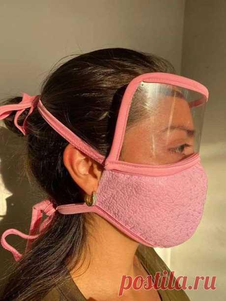 Выкройка медицинской маски с пластиковой защитой глаз DIY | Люблю Себя