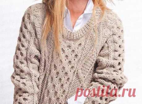 Пуловер с ромбами ~ Свое рукоделие