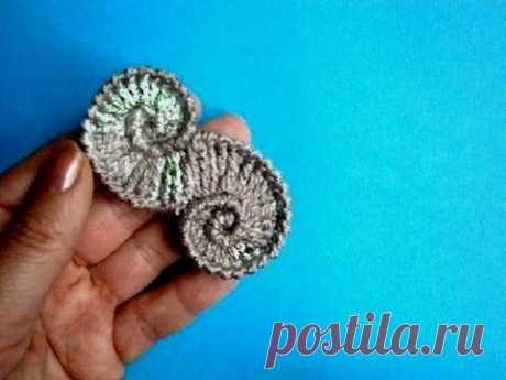 La concha - Shell crochet pattern - la Lección de la labor de punto por el gancho