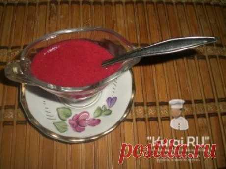 Клюквенный соус - рецепт соуса к жареному или запеченному мясу.