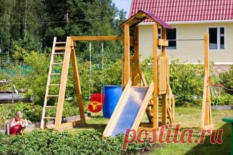7 советов по обустройству игровой площадки для детей на даче | Строительный блог Вити Петрова