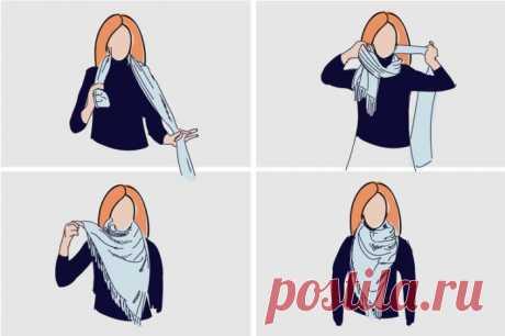 Как красиво повязать платок на шее / Все для женщины