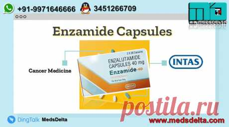 Enzalutamide, also known as Enzamide, available at MedsDelta trusted exporter and supplier. The prominent manufacturer of Enzamide is Intas Pharmaceuticals.  The price of Enzamide is very affordable with us.  Call/WhatsApp: +91–9971646666, QQ: 3451266709 for buy Enzamide Enzalutamide Capsules online from MedsDelta  a dynamic and professional, global pharmaceutical exporter.
