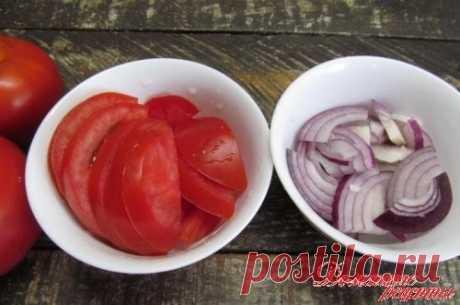 Маринованные помидоры с луком. Эта...