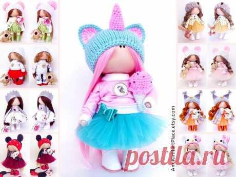 Unicorn Soft Doll Fabric Baby Doll Nursery Textile Doll | Etsy  #etsy #handmade #ragdoll #decordoll #doll #dolls