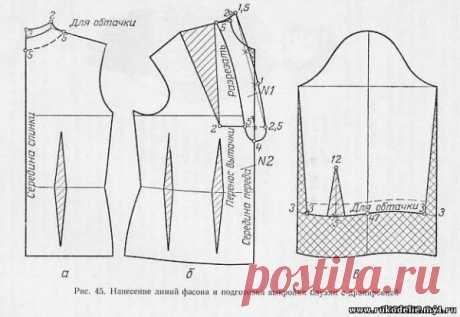 7)Блузка с драпировкой/Блузка с подрезом от проймы/Блузка с цельнокроеным воротником - Женское и детское платье - Всё о шитье