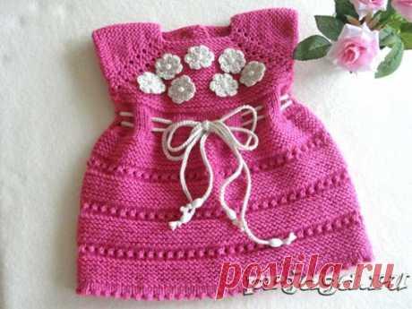 Платье спицами для новорожденной девочки Как вязать: https://prjaga.ru/vyazanie-dlya-detej/platye-sarafan/plate-spicami-dlya-novorozhdennoj-devochki