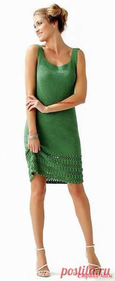 . Элегантное зеленое платье. Это платье смотрится очень элегантно и прекрасно подойдет для летних дней. https://svithobby.blogspot.co.il/