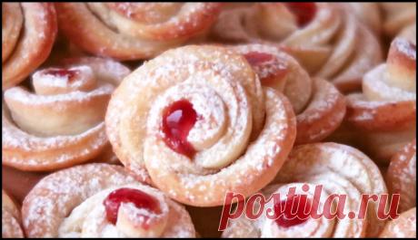 """Очаровательное печенье """"Розочки"""" - вкуснейшее творожное ЧУДО!"""