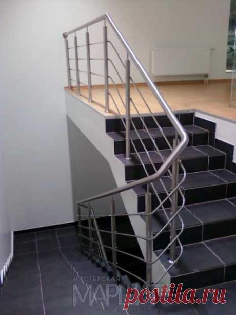 Изготовление лестниц, ограждений, перил Маршаг – Нержавеющие ограждения бетонных лестниц