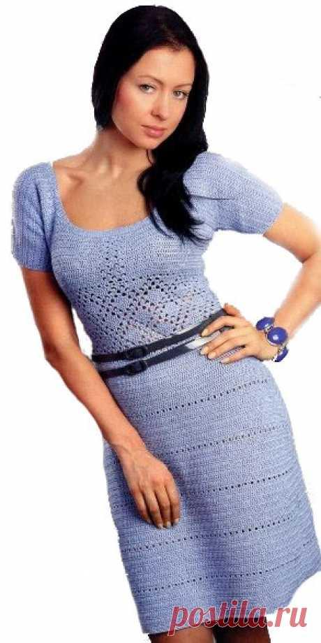 Вязаное платье крючком Trill. Вязаное платье плотной вязкой крючком