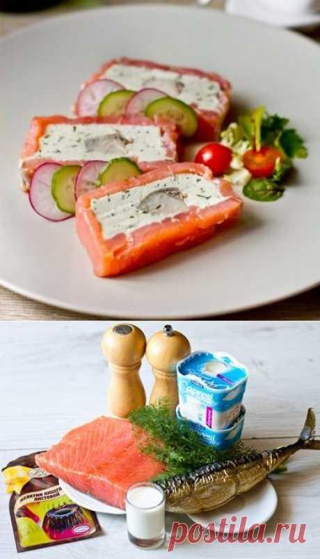 Закуска из красной и белой рыбы со сливочным сыром