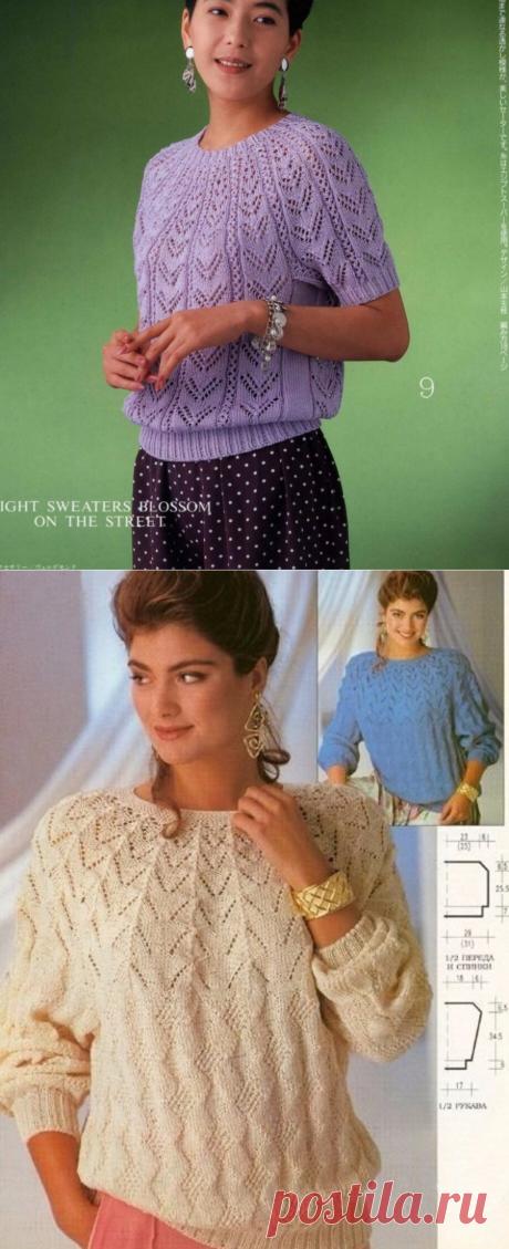 Любимые пуловеры с круглой кокеткой спицами 🌺   Asha. Вязание и дизайн.🌶   Яндекс Дзен