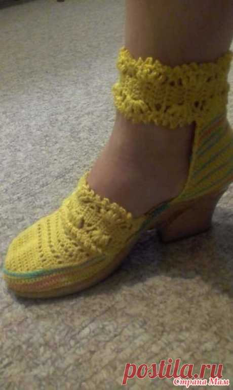 Summer sandals a hook - Knitting - the Country of Mothers