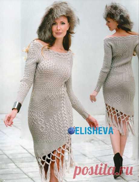 Платье модели Светланы Волкодав абсолютно необыкновенное.