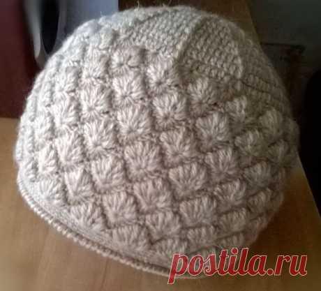 Теплая шапочка крючком