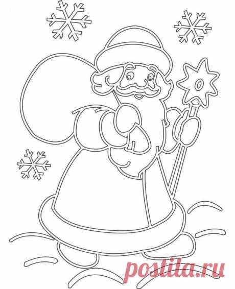Сказочные, волшебные, новогодние трафареты для окон в ДОУ