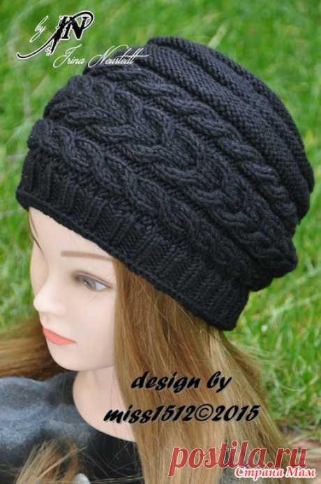 Шапочка-бини и повязка на голову спицами
